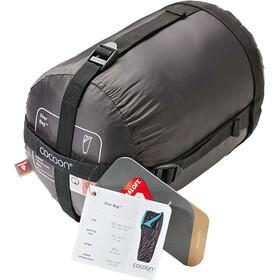 Cocoon Over Bag Sacco a pelo Ripstop Nylon/Primaloft marrone/turchese